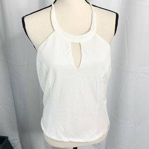 New itoo L white keyhole halter top